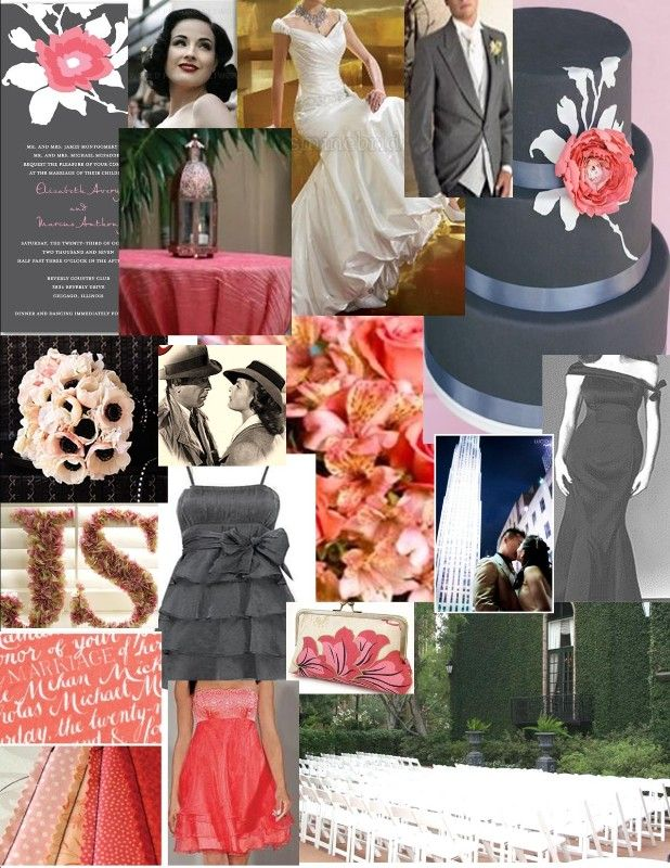 our color scheme is grey and coral, August wedding! | Appel - Newman ...