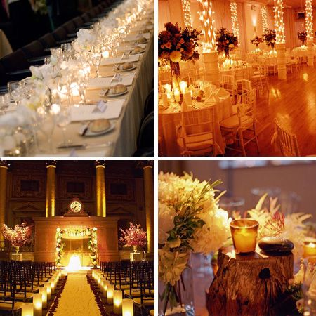 A Candlelight Wedding Rustic Chic