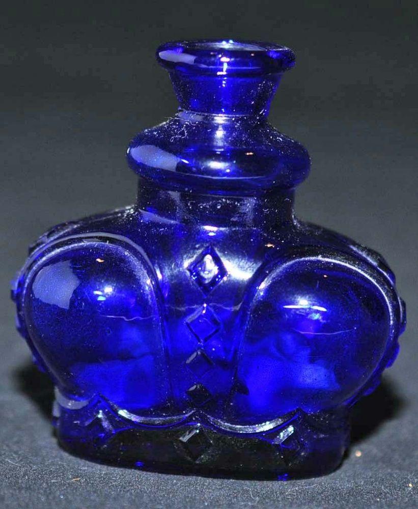 Vintage victrylite blue glass crown bottle made in italy crown vintage victrylite cobalt blue glass crown bottle made in italy crown shape details reviewsmspy