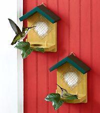 SET OF TWO GLOBE HUMMINGBIRD NESTERS