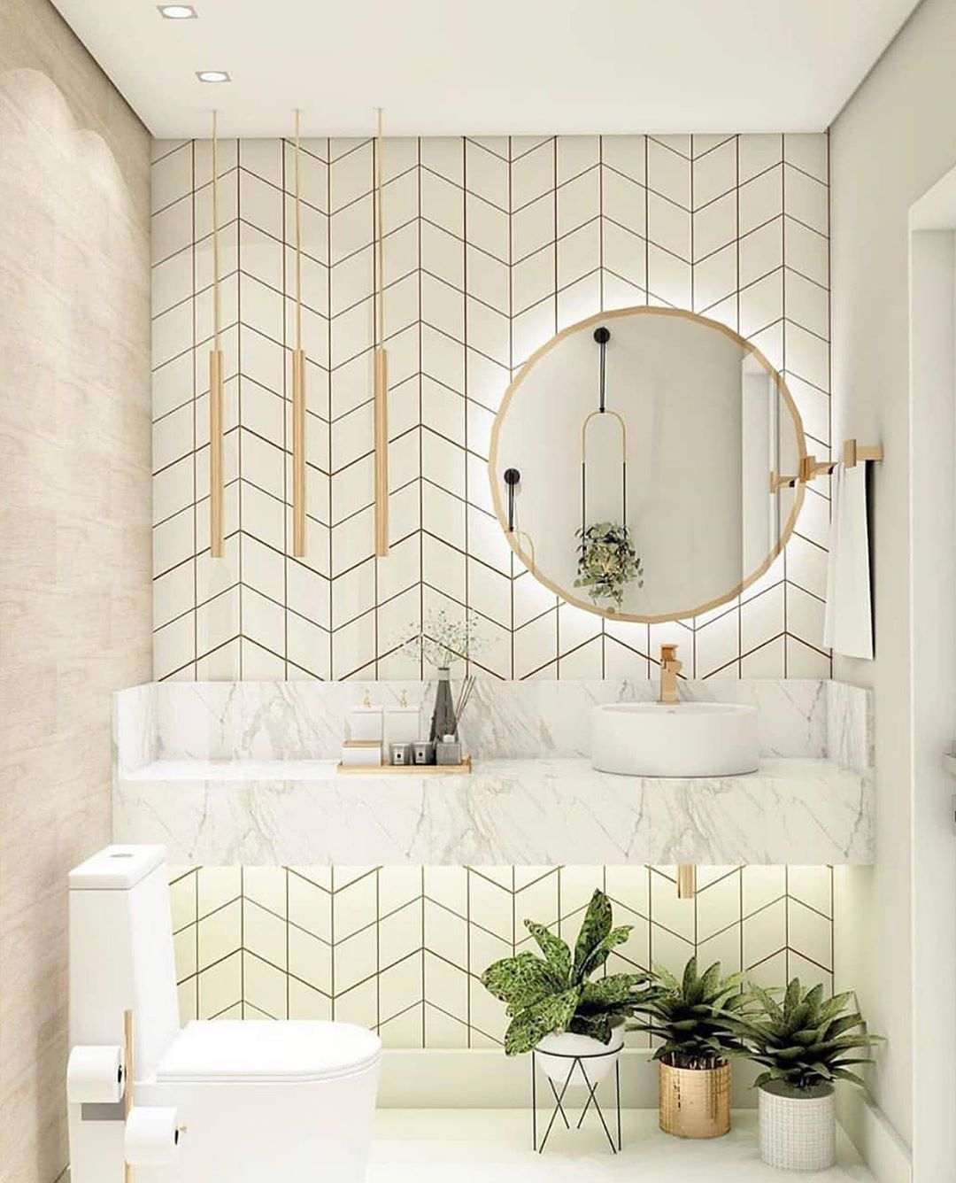 Greyhunt Interiors On Instagram Nothing Like Some Fab Tile Work To Wake You Up Every Morning In 2020 Bathroom Interior Design Bathroom Interior Bathroom Design Small