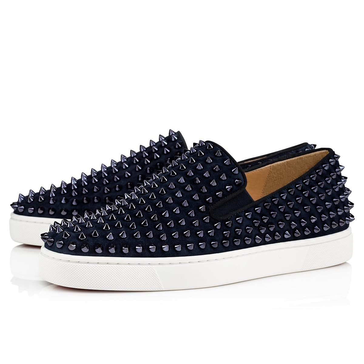 e4f3b8fb4753 CHRISTIAN LOUBOUTIN Roller-boat Veau Velours spikes.  christianlouboutin   shoes