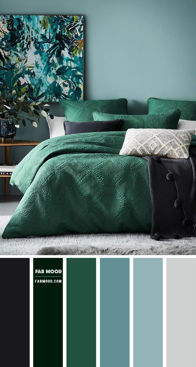 46+ Green and blue bedroom color schemes inspirations