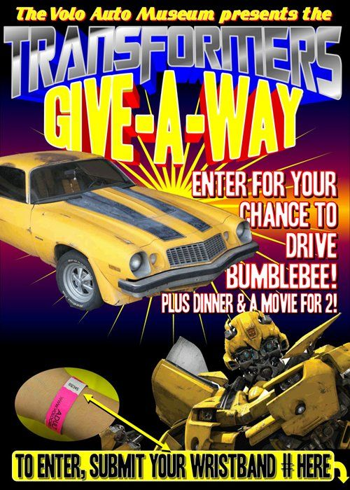 Drive Bumblebee In Volo Auto Museum Transformers 4 Movie Giveaway