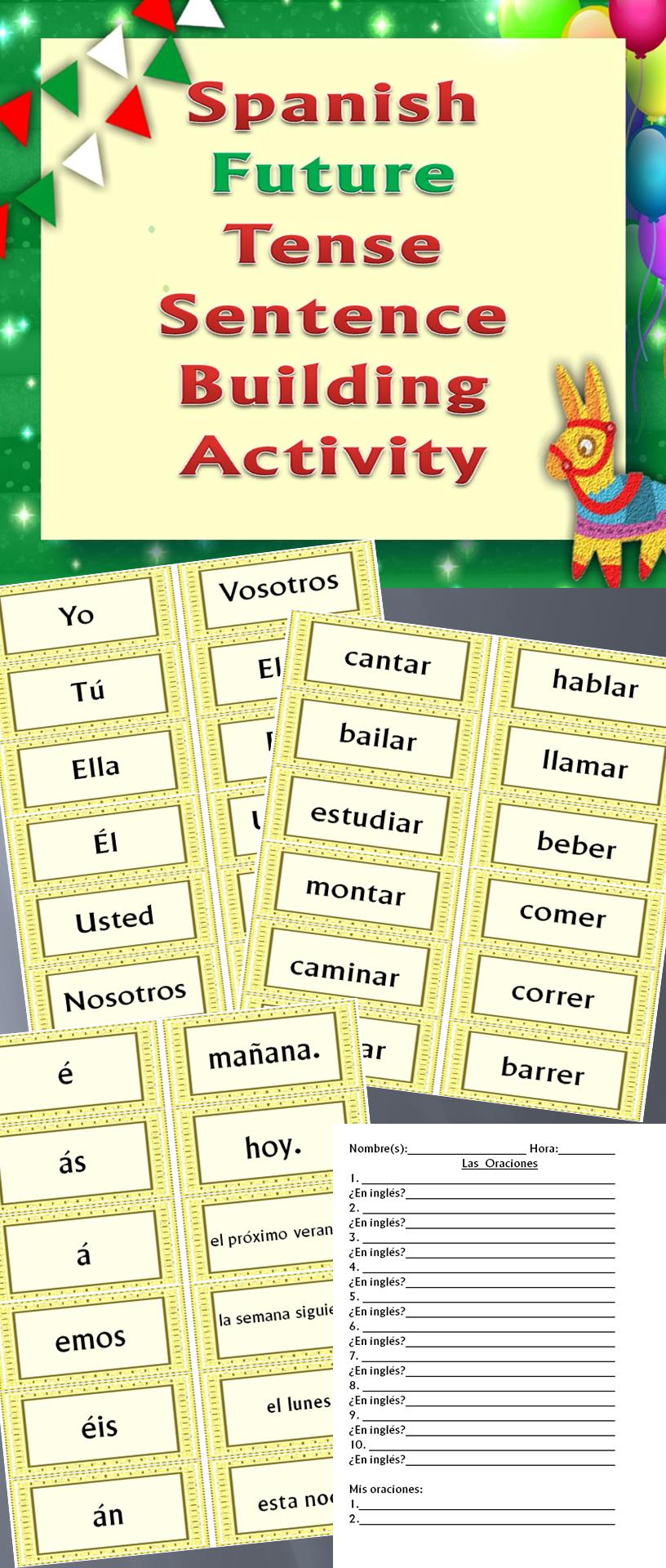 Hands On Activity Making Future Tense Sentences In Spanish Spanish Classroom Activities Spanish Students Spanish Help [ 1920 x 816 Pixel ]