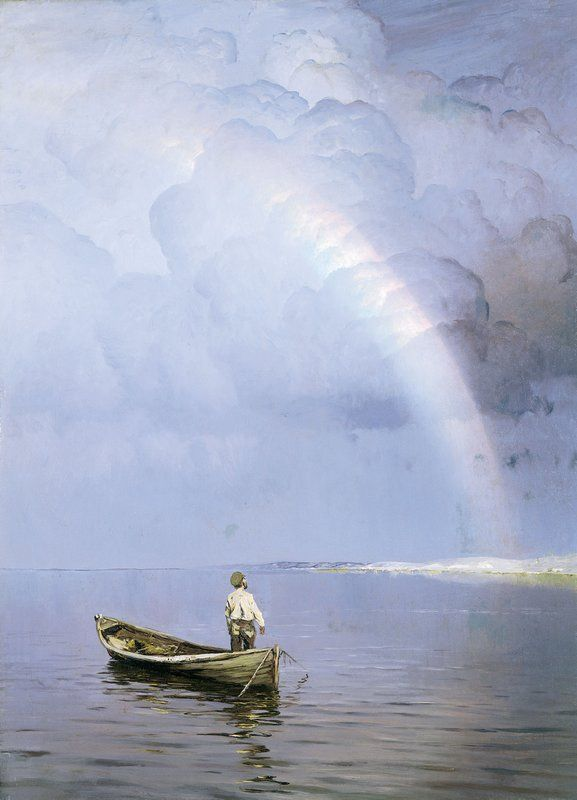 Nikolay Nikanorovich Dubovskoy (Russian, 1859–1918), Rainbow and John Milton (English, 1608-74) When I Consider How My Light Is Spent http://www.poets.org/poetsorg/poem/when-i-consider-how-my-light-spent