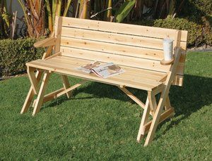 Flip N Sit Picnic Table A Bench That Turns Into A Picnic Table