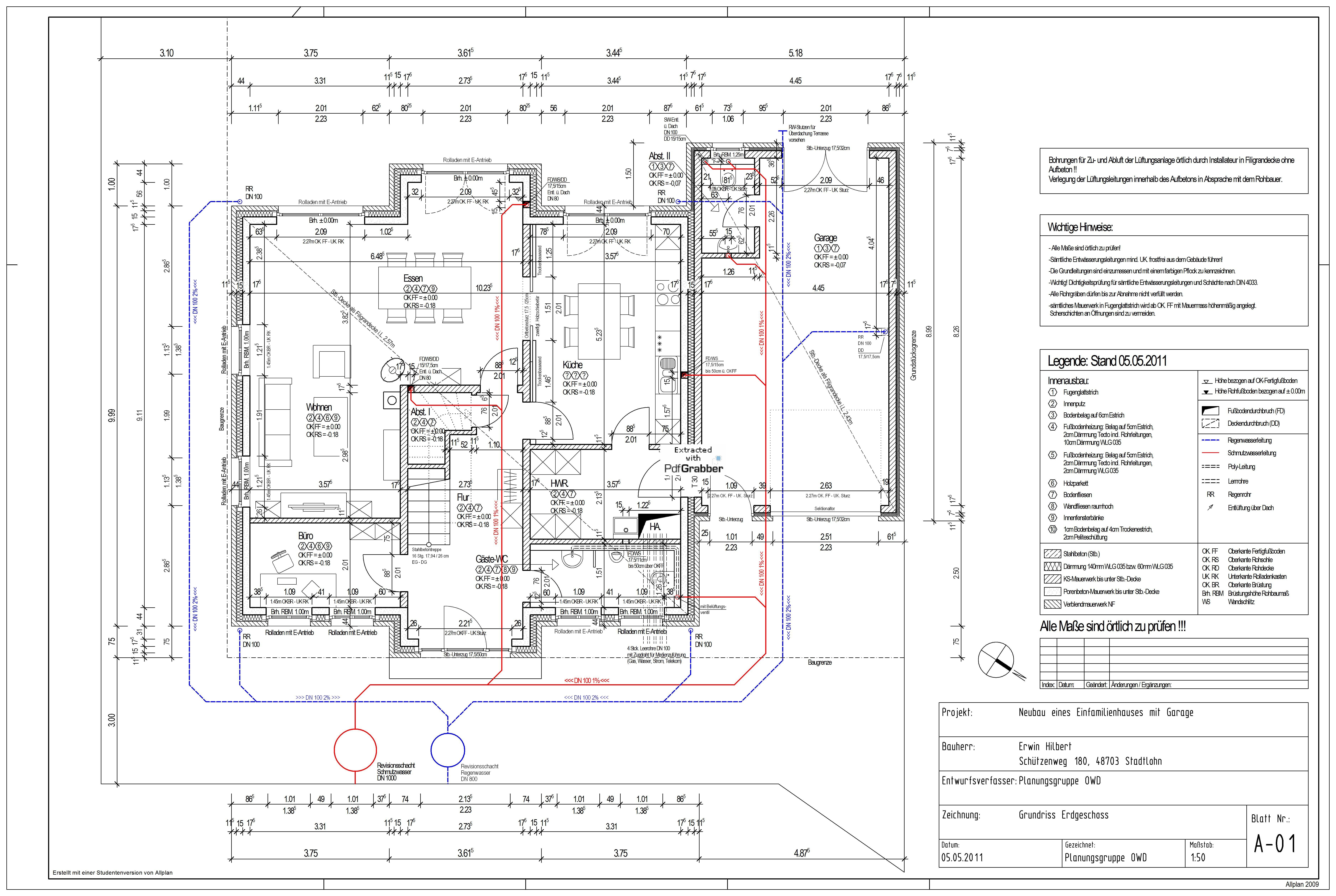 Pictorius Ausführungsplanung Architektur studieren
