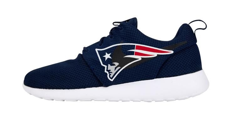Customized New England Patriots Nike Roshe One Sneakers f77b2ded0