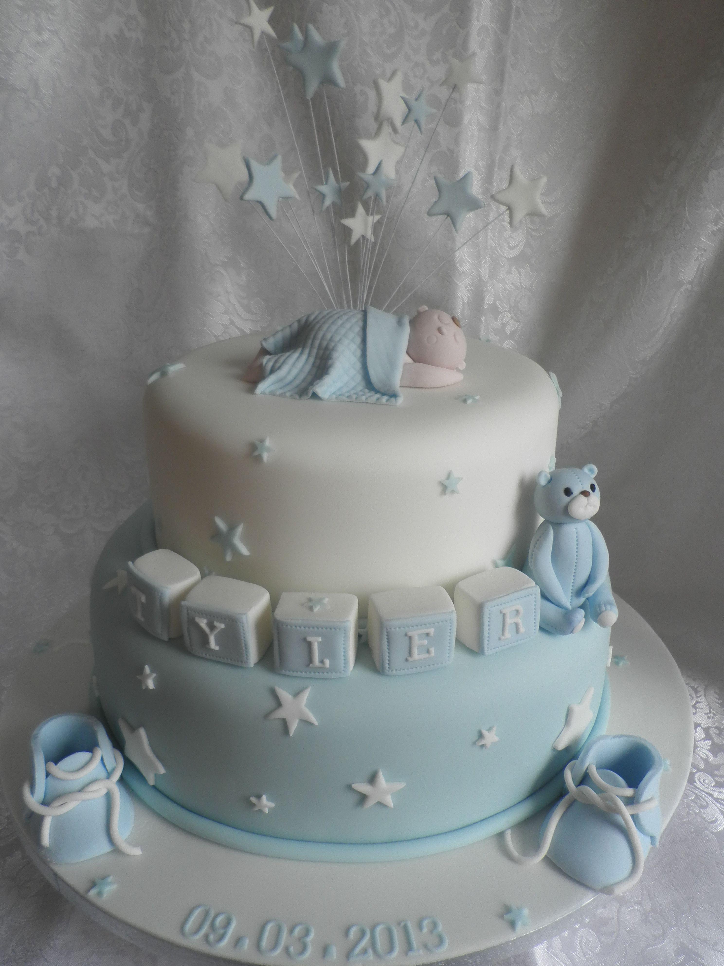 boy,s christening cake