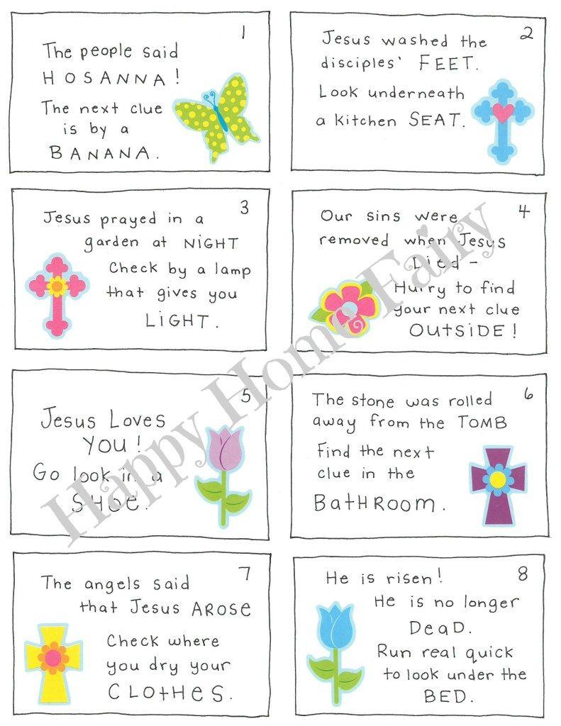 ChristCentered Easter Morning Scavenger Hunt for