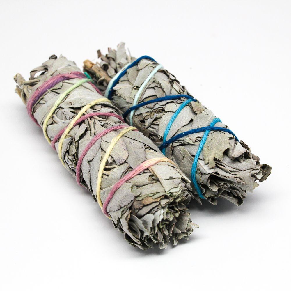 White Sage is a very sacred and powerful plant. It has been used since  ancient times by shaman, medicine men, and healers. Today it is the most  popular herb used for Smudging. In smudging the smoke gathers negativity  and dispels it while bringing in the positive. It aids in healing physical,  emotional, spiritual, and mental imbalances. This works on the body as well  as in the home.      * New to smudging? Read our guide on clearing and cleansing.