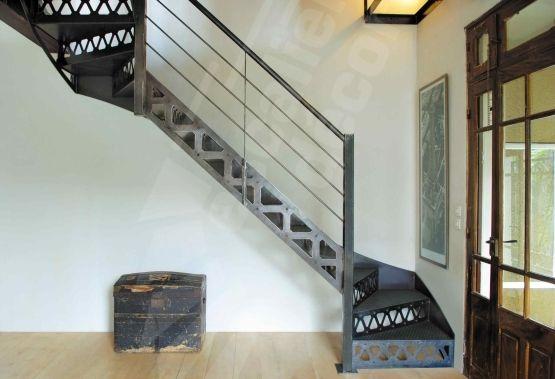 Escalier Metallique De Style Industriel Photo Dt36 Esca Droit 2