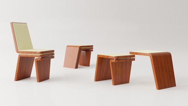 Bon Transformable Furniture With A Simple And Functional Design. The Seat  Furniture Provides A Solution Easily Adaptable To Different Space  Requirements And ...