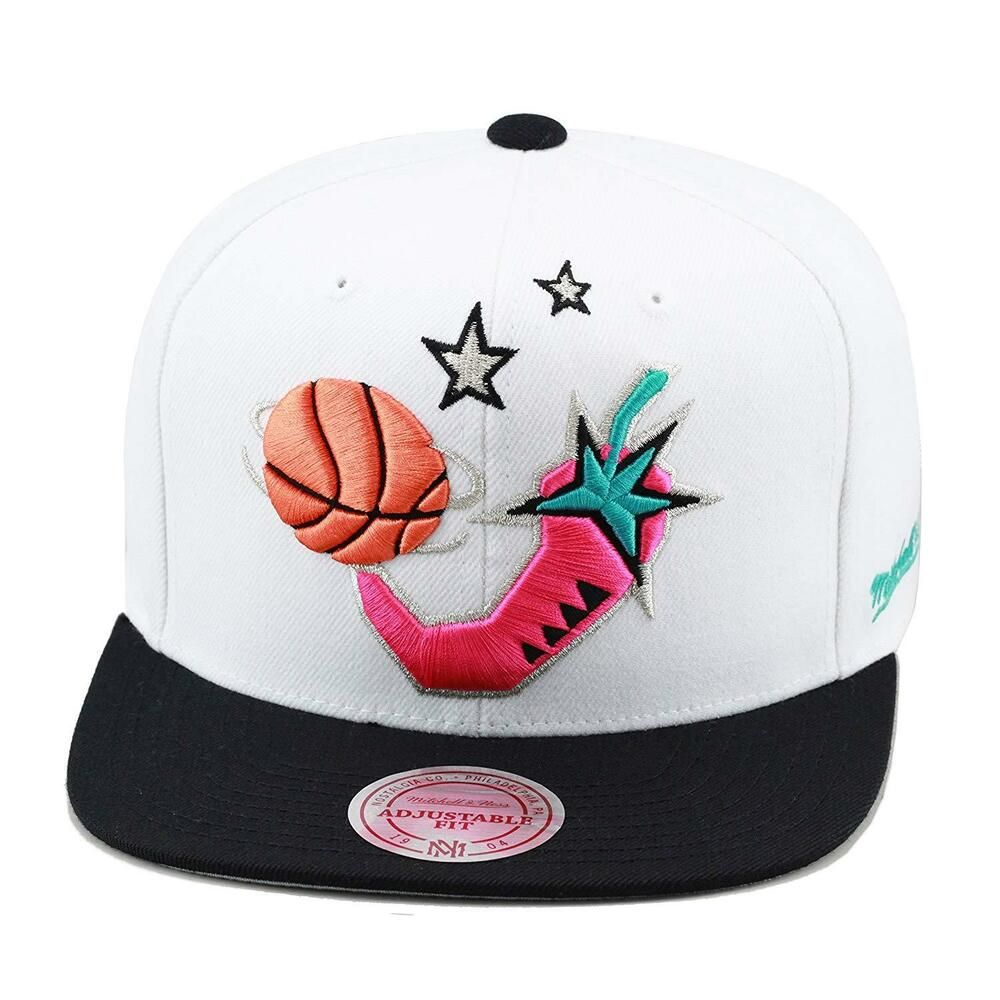 sale retailer a2ca5 fcab8 Mitchell   Ness NBA All Star Game 1996 Snapback Hat White Black Pink   fashion  clothing  shoes  accessories  mensaccessories  hats (ebay link)
