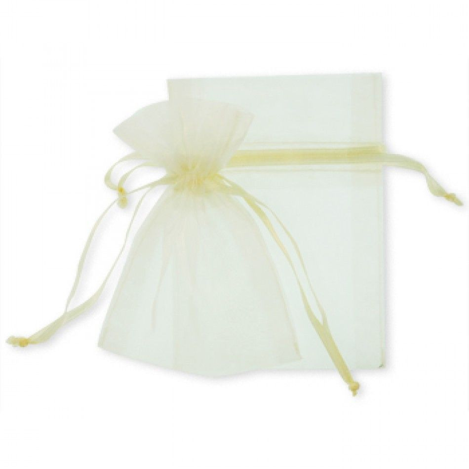 Large Sheer Organza Favor Bags - Ivory - CLEARANCE! [Ivory Wedding ...