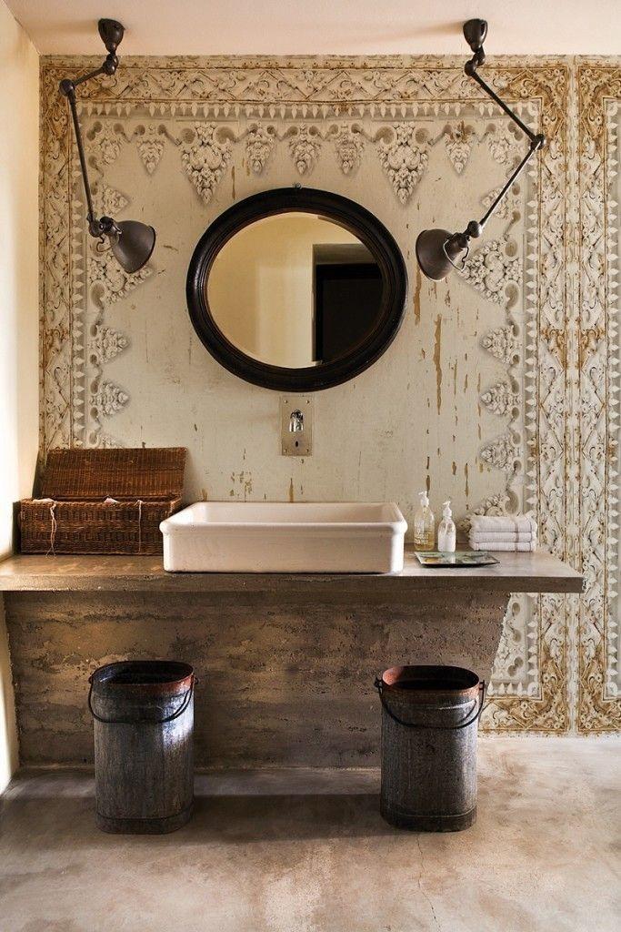 COMO SON LOS BAÑOS RUSTICOS DE HOY bath Pinterest Bath and House