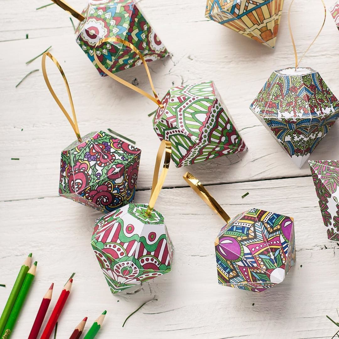 Superb Cute Coloring Ornaments From My Christmas Range Colored By Want The  Template And Other Christmas Printables? Visit My Website! (Link In Bio)