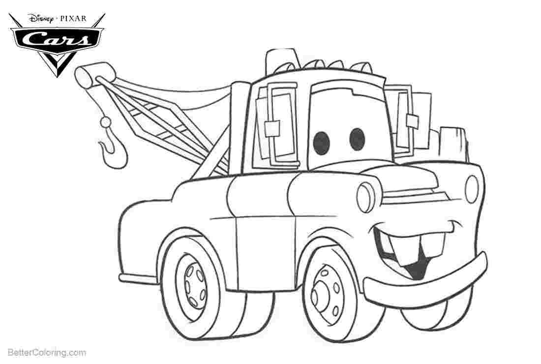 Coloring Pages Tow Mater Race Car Coloring Pages Cars Coloring Pages Truck Coloring Pages