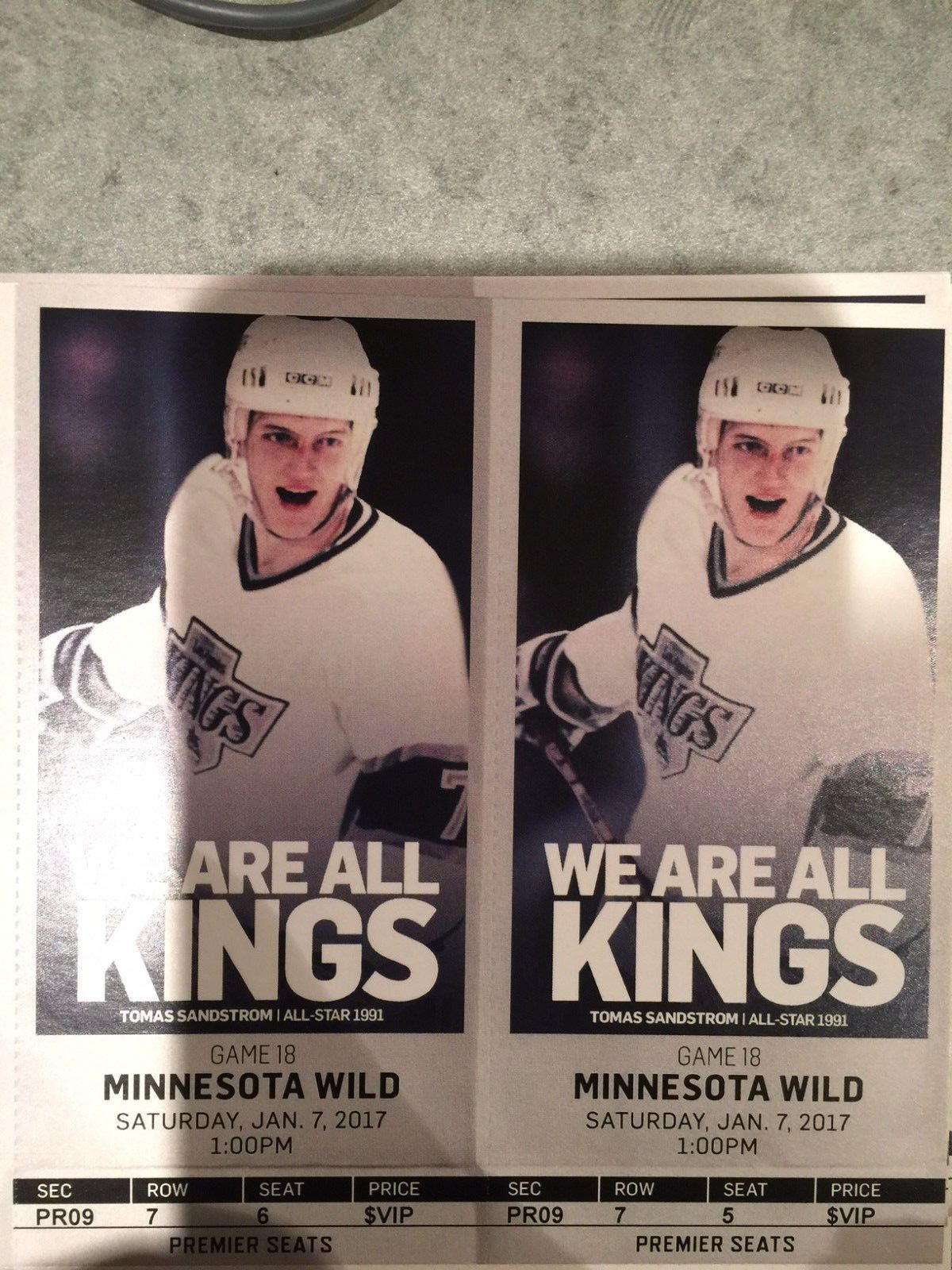 Two 2 Los Angeles Kings Vs Minnesota Wild Vip Tickets Pr9 Seats