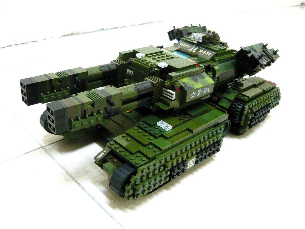 NO PARTS Command /& Conquer. GDI Mammoth Tank MK-3 Custom Lego instructions