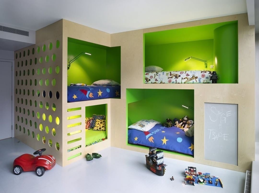 """""""Boys Room by Incorporated  #incorporated #annieschlechter #newyork #apartment #boysroom #childrensroom #kidsroom #bunkbed #interior #interiors…"""""""