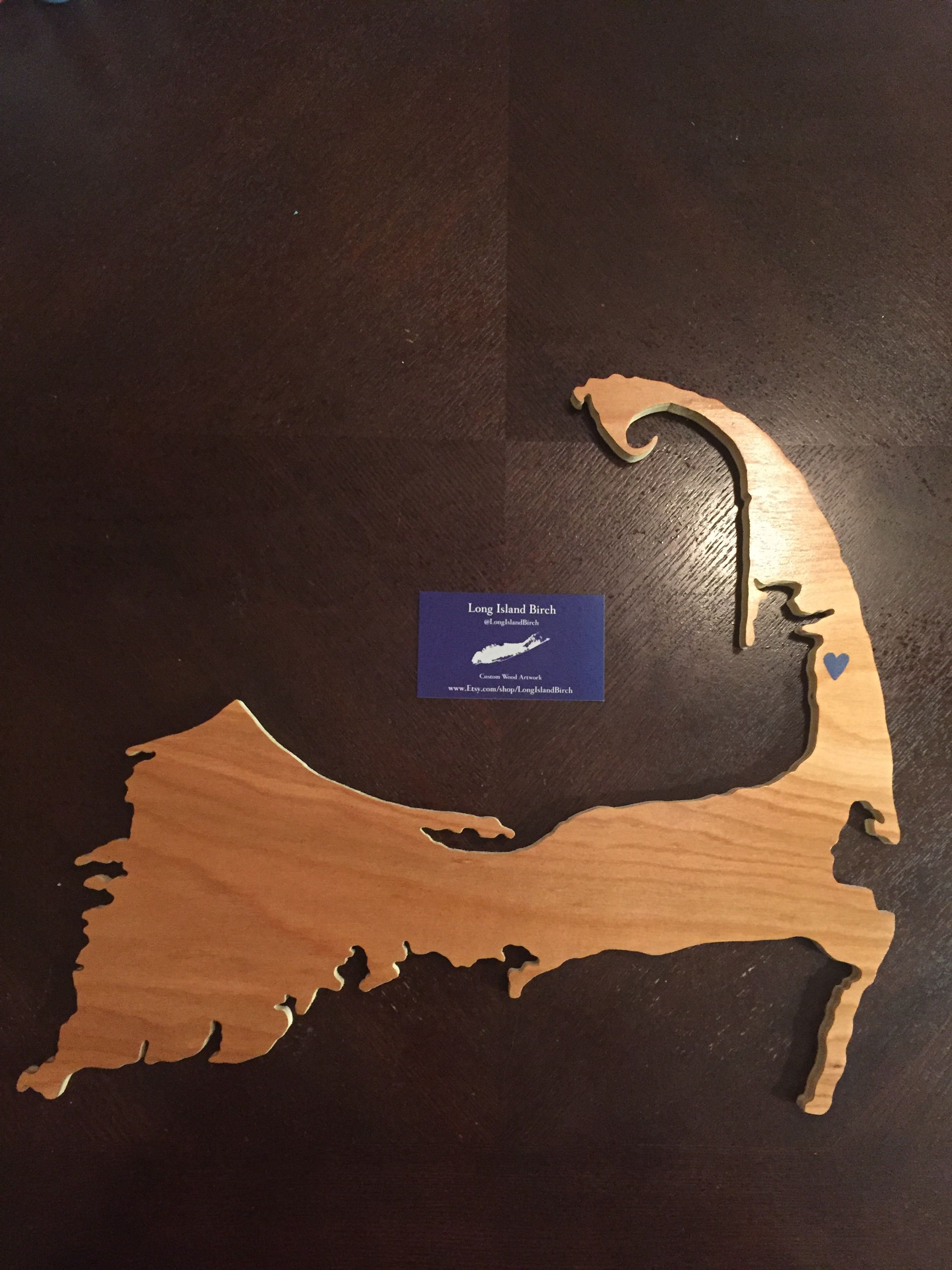 Cape cod map beautifully handcrafted with a hand painted