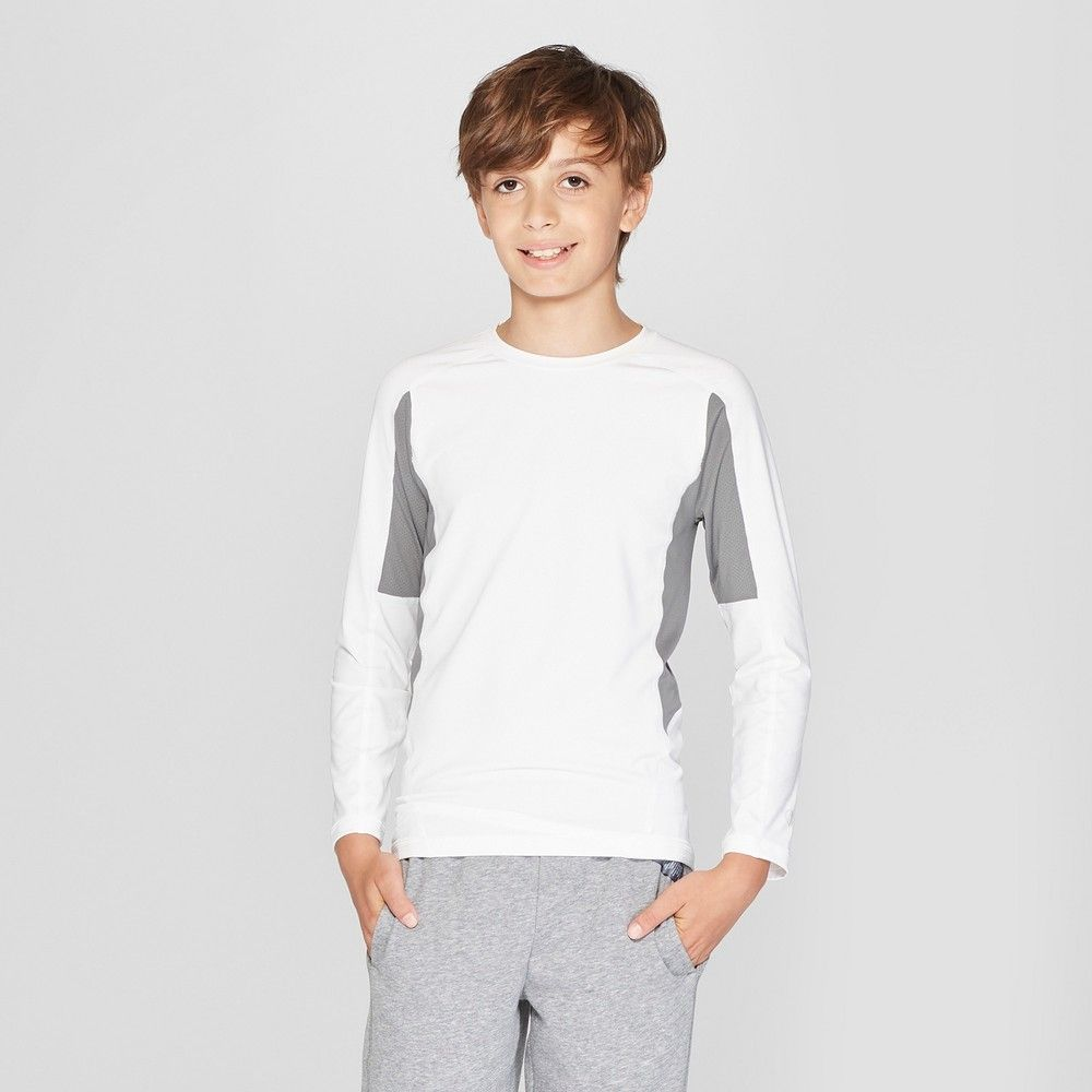 0b898153 The Boys' Novelty Power Core Compression LS Top from C9 Champion features a  slim supportive fit that works well as a base layer or on its own.