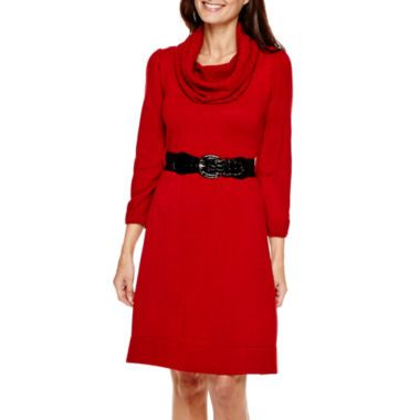 442e4c538d Alyx® 3 4-Sleeve Belted Sweater Dress - Plus found at  JCPenney ...