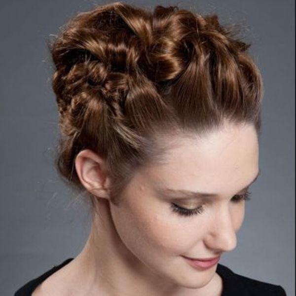 recogido-trenzado-5 Peinados Pinterest Recogidos, Peinados y