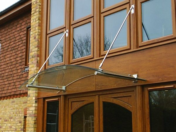 Curved glass porch canopy | Decor ideas | Pinterest | Porch canopy ...