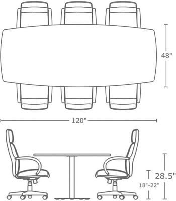 Conference Table Sizes Meeting Tables Pinterest