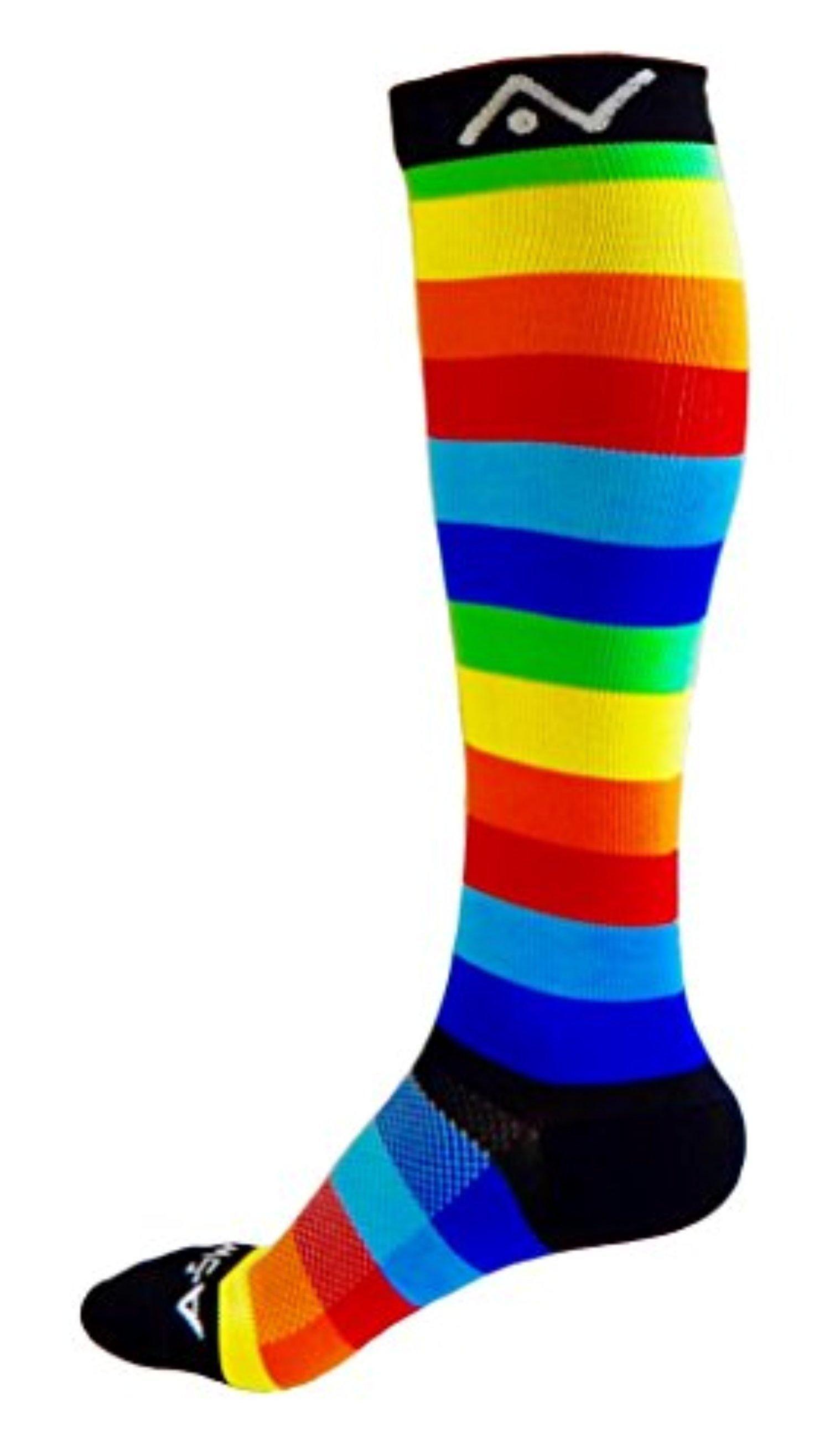 fdefa3593 Fun Pattern Compression Socks for Women and Men - Best Running Sports  Medical Graduated Nursing Socks - Suits Nurses Maternity Pregnancy Shin  Splints ...
