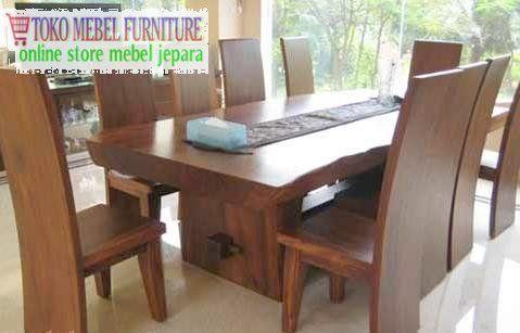 Kursi Meja Makan Blok Trembesi Ruang Makan Set Ruang Makan