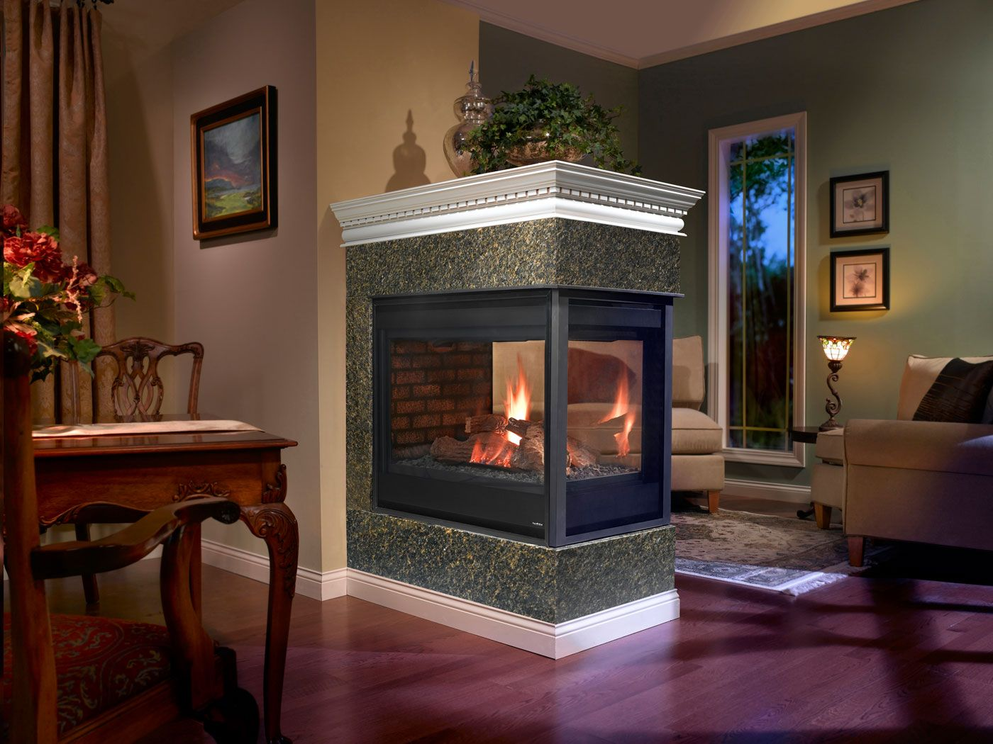 Heatilator Peninsula Gas Fireplace Fireplaces Gas