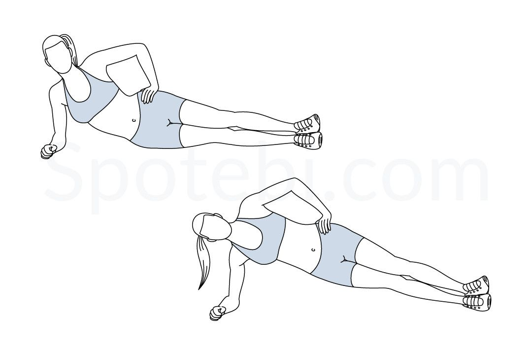 Side Plank Hip Lifts | Workout guide Oblique Exercises Abe