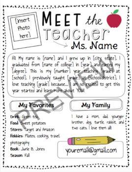 [Editable] Meet the Teacher Letter by Sophie Edwards