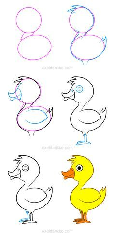 how to draw a duck comment dessiner un canard