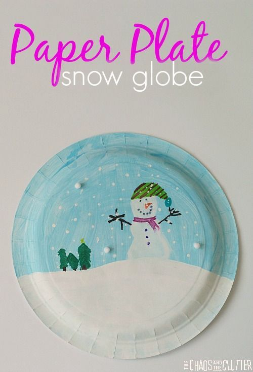 Simple paper plate snowglobe craft is a great winter project for kids  sc 1 st  Pinterest & Paper Plate Snowglobe | Winter Crafts and Activities