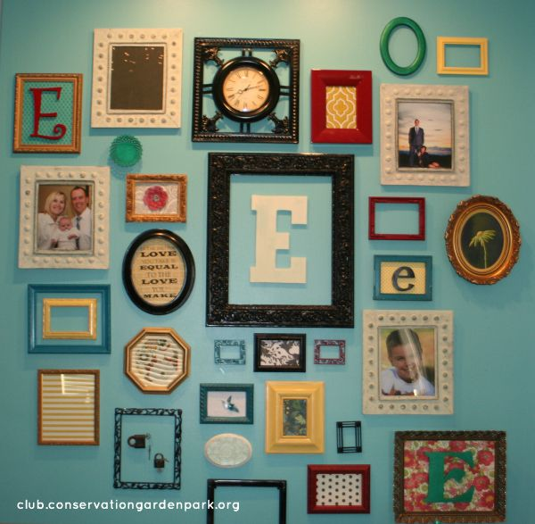 Colourful Frame Collage To Display Teacher Certificates Biographies And Art Colorful Picture Frames Frames On Wall Picture Frame Wall