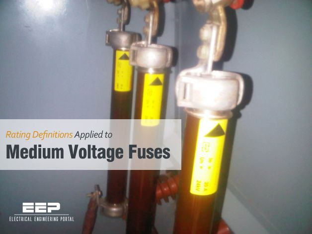 Rating Definitions Applied To Medium Voltage Fuses