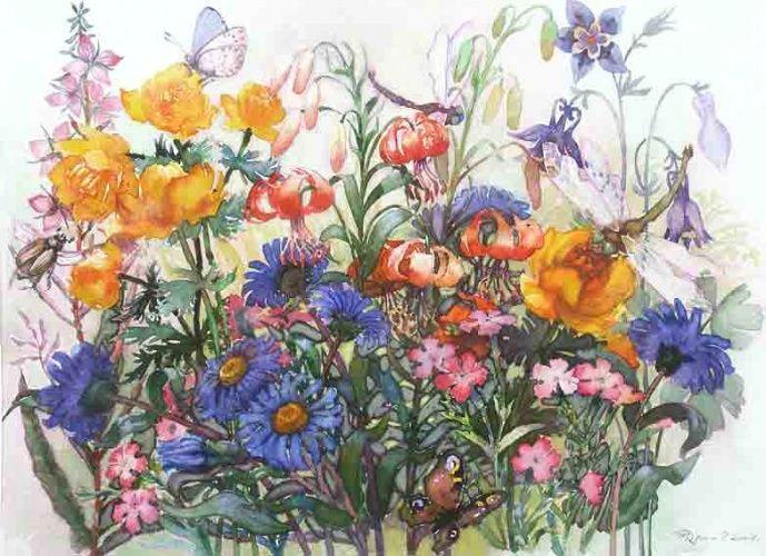 Весеннее ассорти 2 | Акварель, Винтажные цветы, Цветы