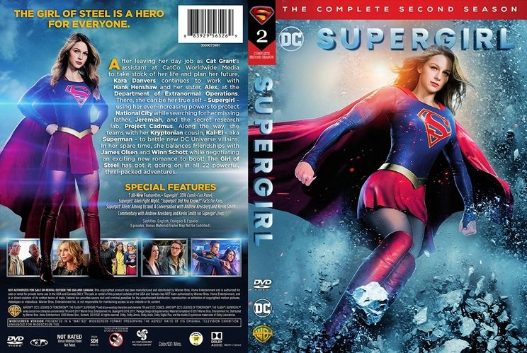 Supergirl Season 2 Scanned Dvd Cover Dollhouse Dvd Covers