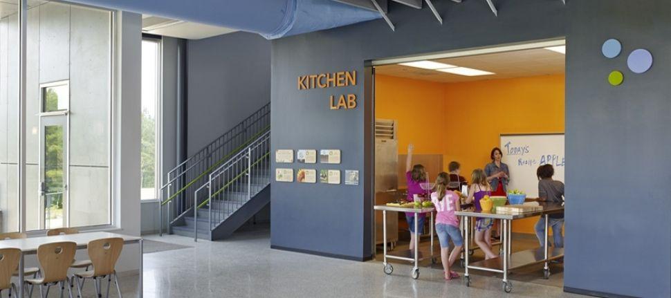 Kitchen Lab Photo Credit Alan Karchmer Buckingham County Primary Custom Interior Design Schools In Virginia