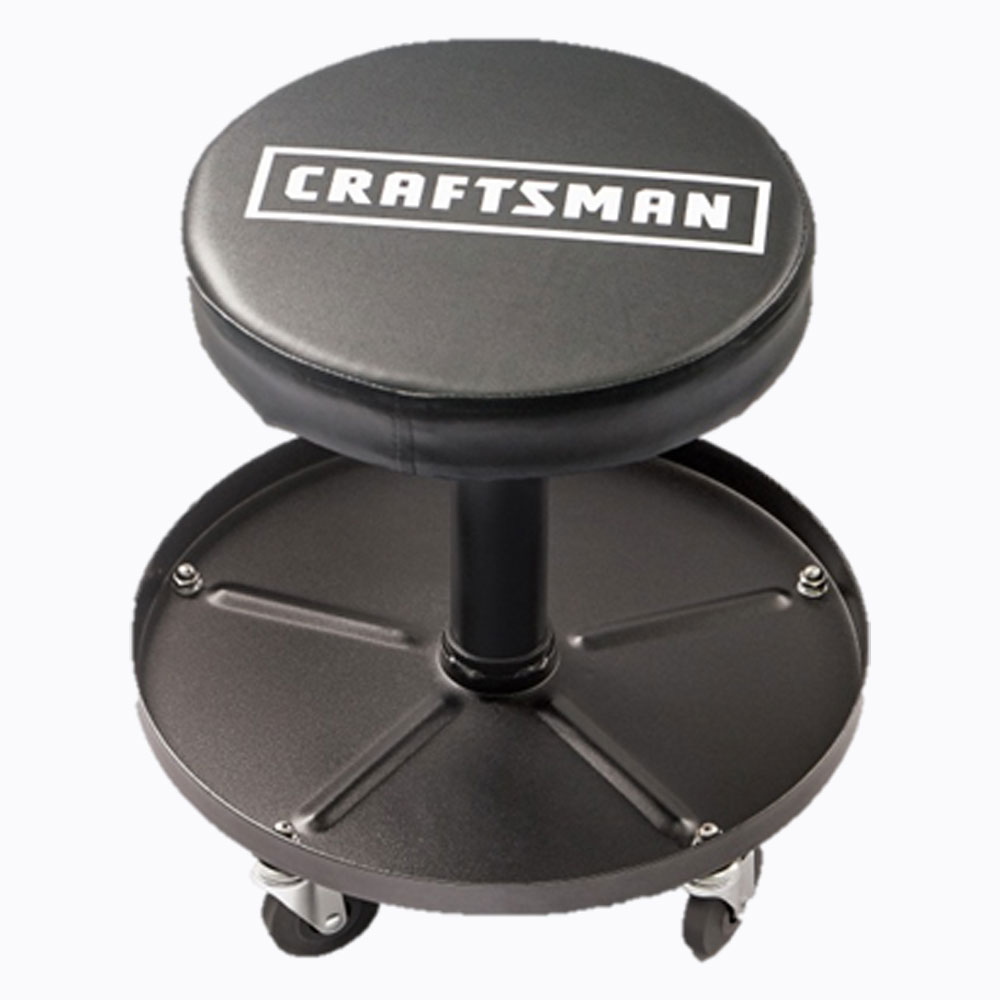 Craftsman Adjustable Pneumatic Mechanic S Swivel Seat Black