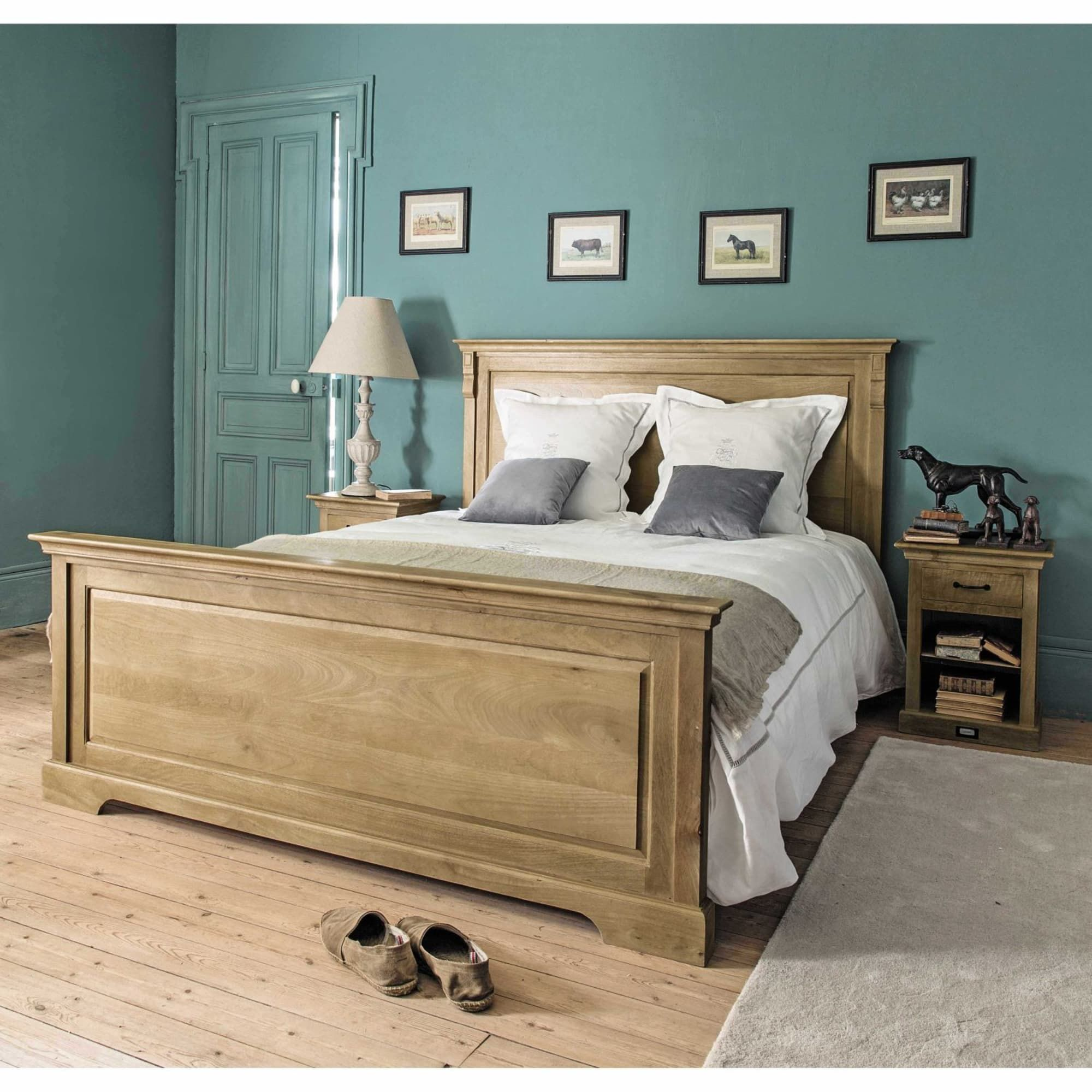 Solid Mango Wood 160 x 200 King Size Bed Wood bed design