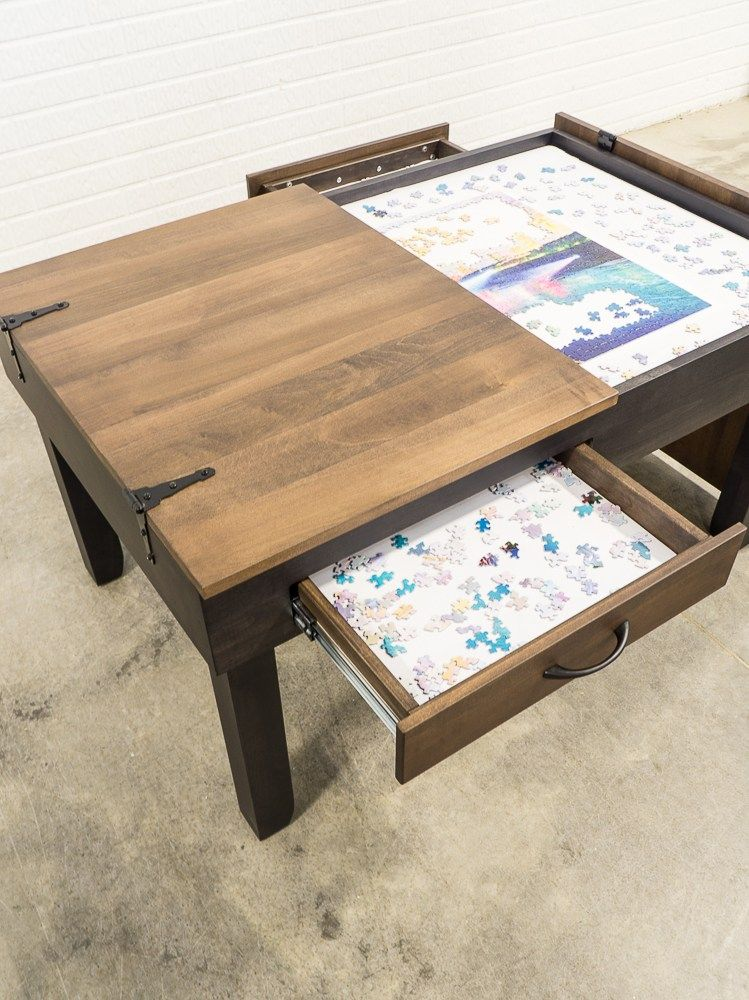 Coffee Height Jigsaw Puzzle Table Designed Decor Puzzle Table Diy Coffee Table Diy Furniture