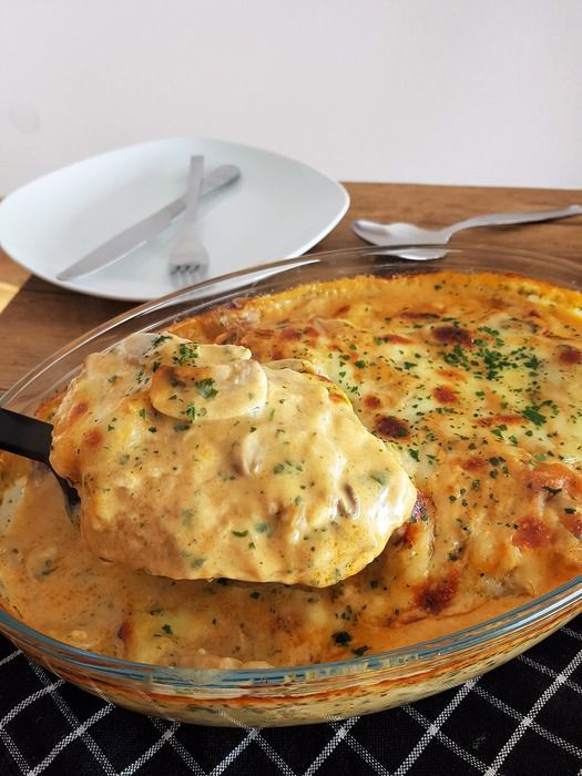 Photo of Baked mushroom cream chicken :: Bella-cooks-and-tra …