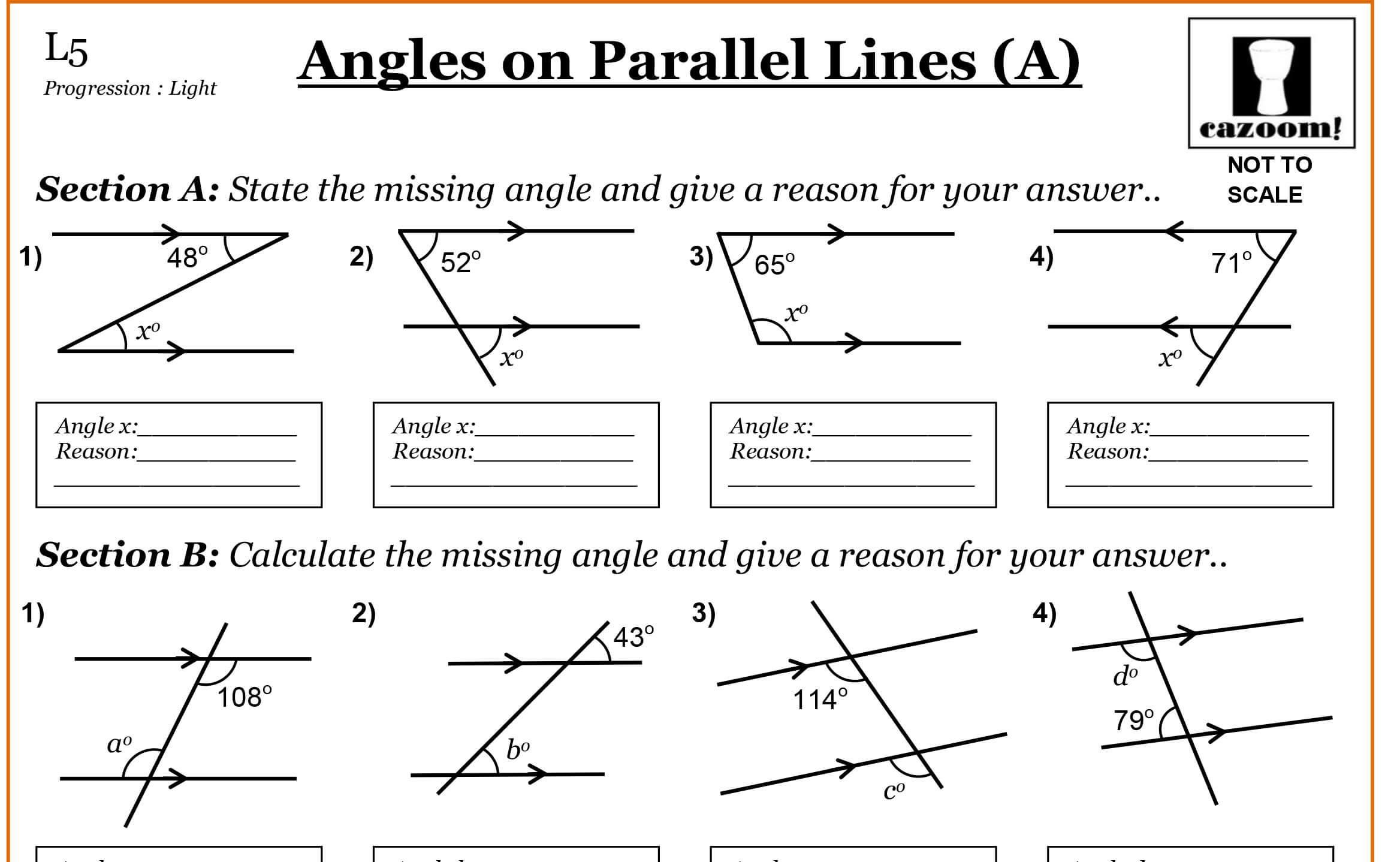 38 Math Worksheets For Grade 7 Geometry