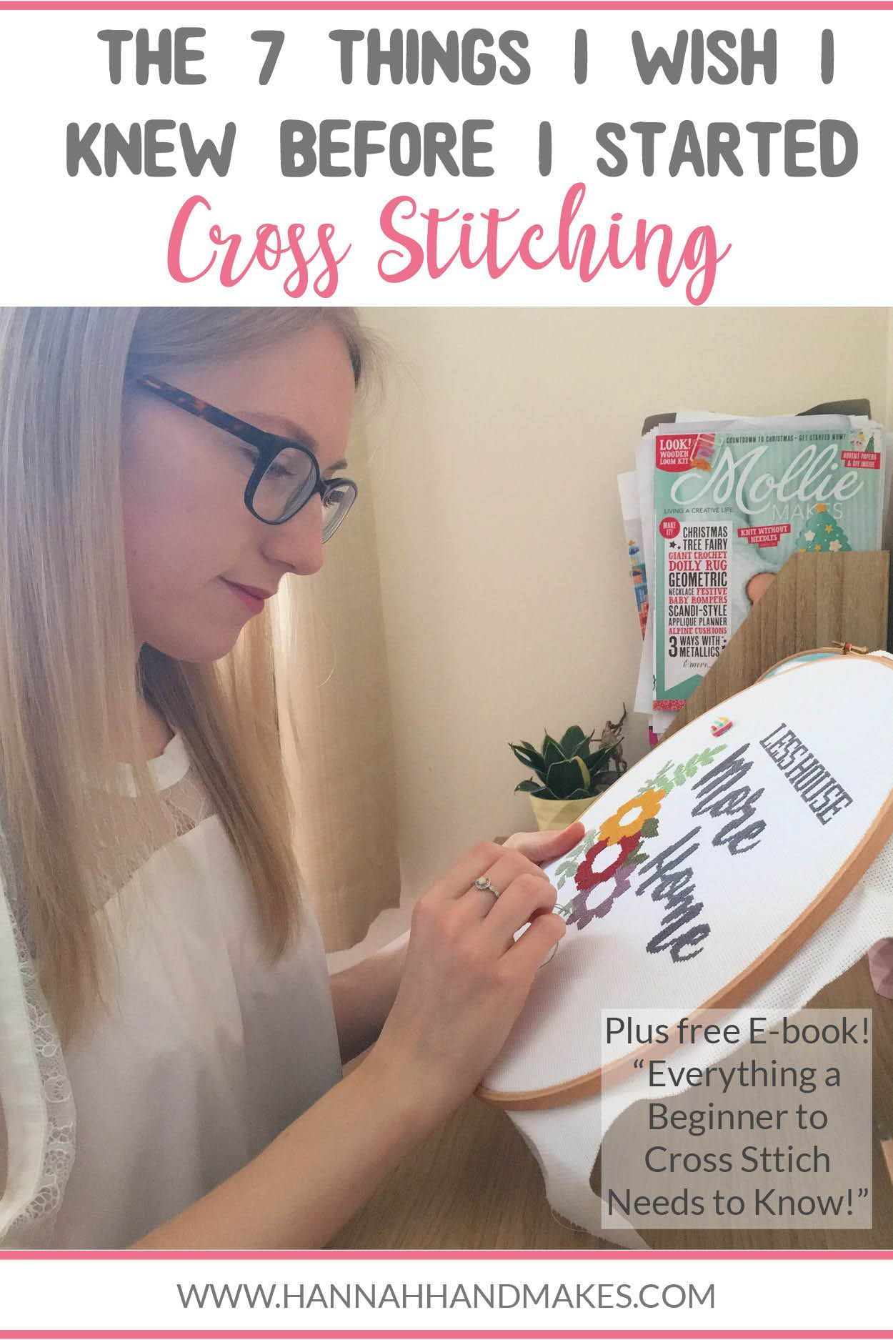 Photo of The 7 Things I Wish I Knew Before I Started Cross Stitching | S2E4 – Hannah Hand Makes